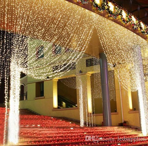 3x3M300 LED Свадебная сказка светло-занавес строка свет Новый год день рождения светодиодный рождественские струнные светлые сказочные вечеринки садовые украшения