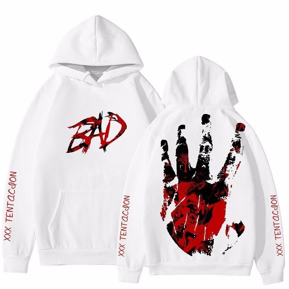 En Yeni Raper Xxxtentacion 3D Kapüşonlular Men yazdır Dropship / kadın Streetwear Hip Hop 3D Xxxtentacion Erkekler Hoodie Sweatshirt Kapşonlu Y200331