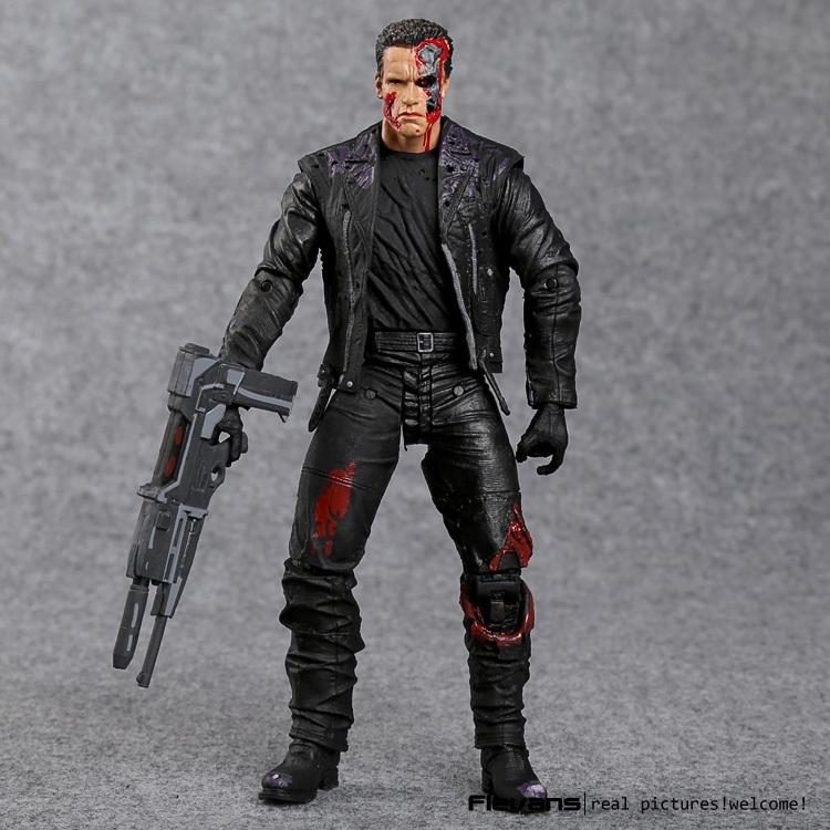"The Terminator T-800 Arnold Schwarzenegger Pvc Action Figure Collectible Model Toy 7"" 18cm Y190604"