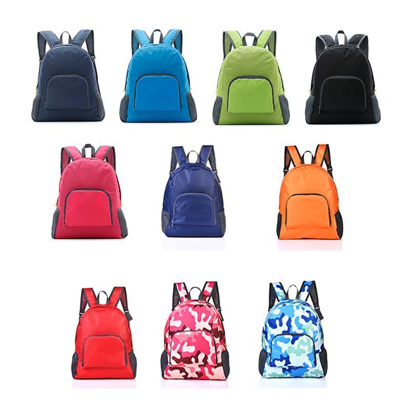 Femmes portables Sacs de voyage multifonctions sac à dos pliable Sacs à bandoulière 10colors