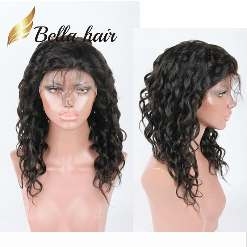 Natural Wave Human Hair Lace Wig Julienchina Malaysian Fashion Curl Lace Front Wig with Baby Hair Bella Hair Natural Hairline Wigs