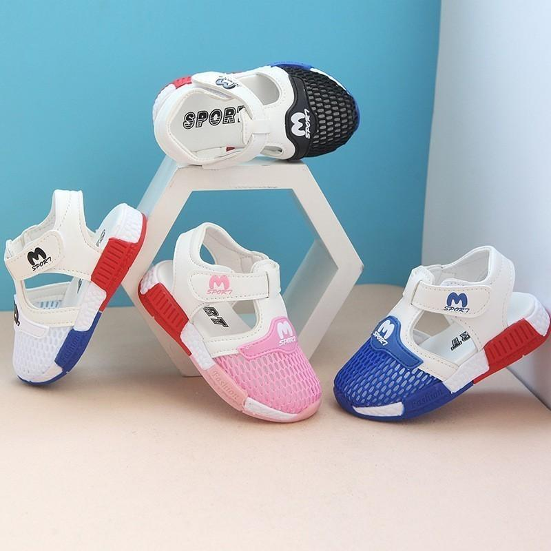 0-3 Years Old Baby New Tide Summer Children's Casual Sandals Boys Girls Breathable Mesh Shoes Factory Price Sale Wholesale