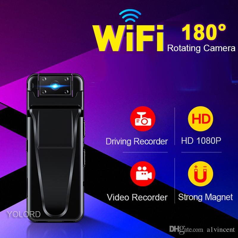 18MP 1080P 15hrs تسجيل طويل المحمولة المغناطيسي كاميرا 180 Rotaing تسجيل صوتي WIFI القلم كامل 1080p لاسلكي كاميرا للرؤية الليلية