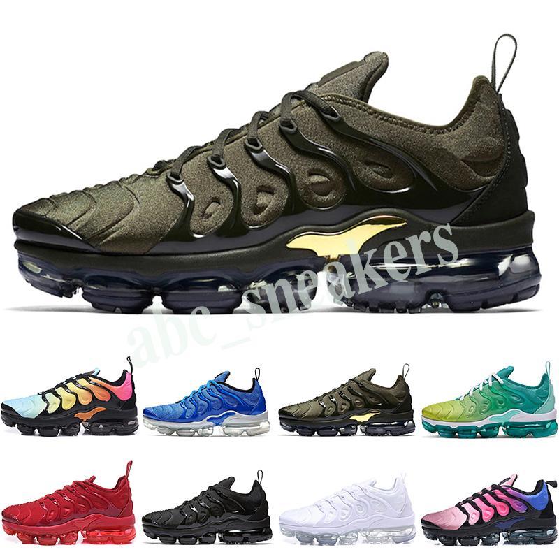 Nike Air Vapormax plus TN 2019 TN Plus в металлическом оливковом цвете женщины мужчины мужские кроссовки класса люкс кроссовки брендовые тренеры кроссовки 36-46 b03