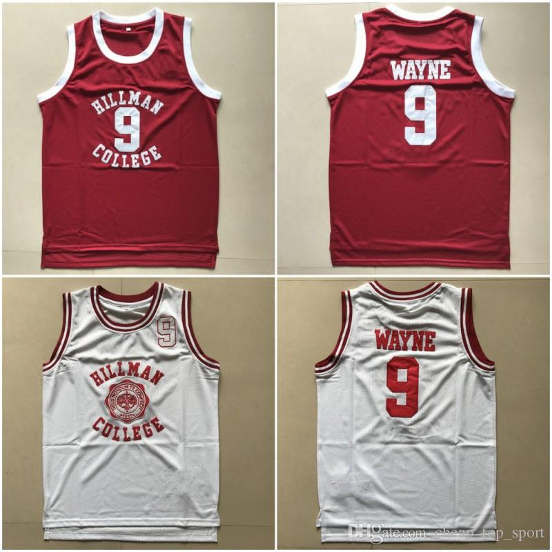 e88ab254f221 Mens Dwayne Wayne 9 Hillman College Theater Basketball Jersey Moive A  Different World KADEEM HARDISON Dwayne Wayne Stitched Basketball Shirt