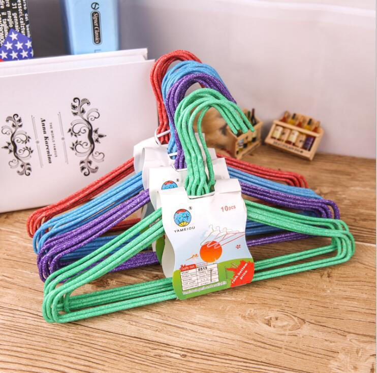 Children's clothes/drying/hanging rack Children's wire-wrapped clothes rack baby clothes rack