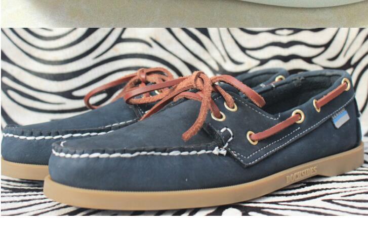 hombres al por mayor del ante de los mocasines top sider mens zapatos del barco de gamuza azul barco mocasines hechos a mano zapatos de cuero de zapatos casuales tamaño grande CS3