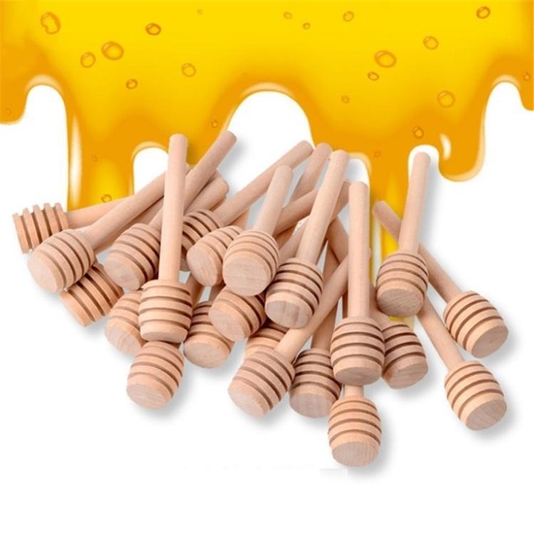 8cm lunghi Mini legno Honey Stick Miele Dippers Supply Partito Cucchiaio Stick Vaso del miele Bastone Cucina da tavola prodotto 4838