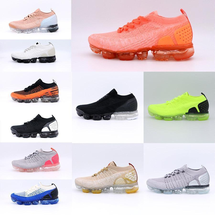 chaussures 2018, plus de femmes airs d'air OGvapormaxair Maxv2 2.0 Coussin Argent Or entraîneurs des hommes hommes chaussures de course avec boxa17c #