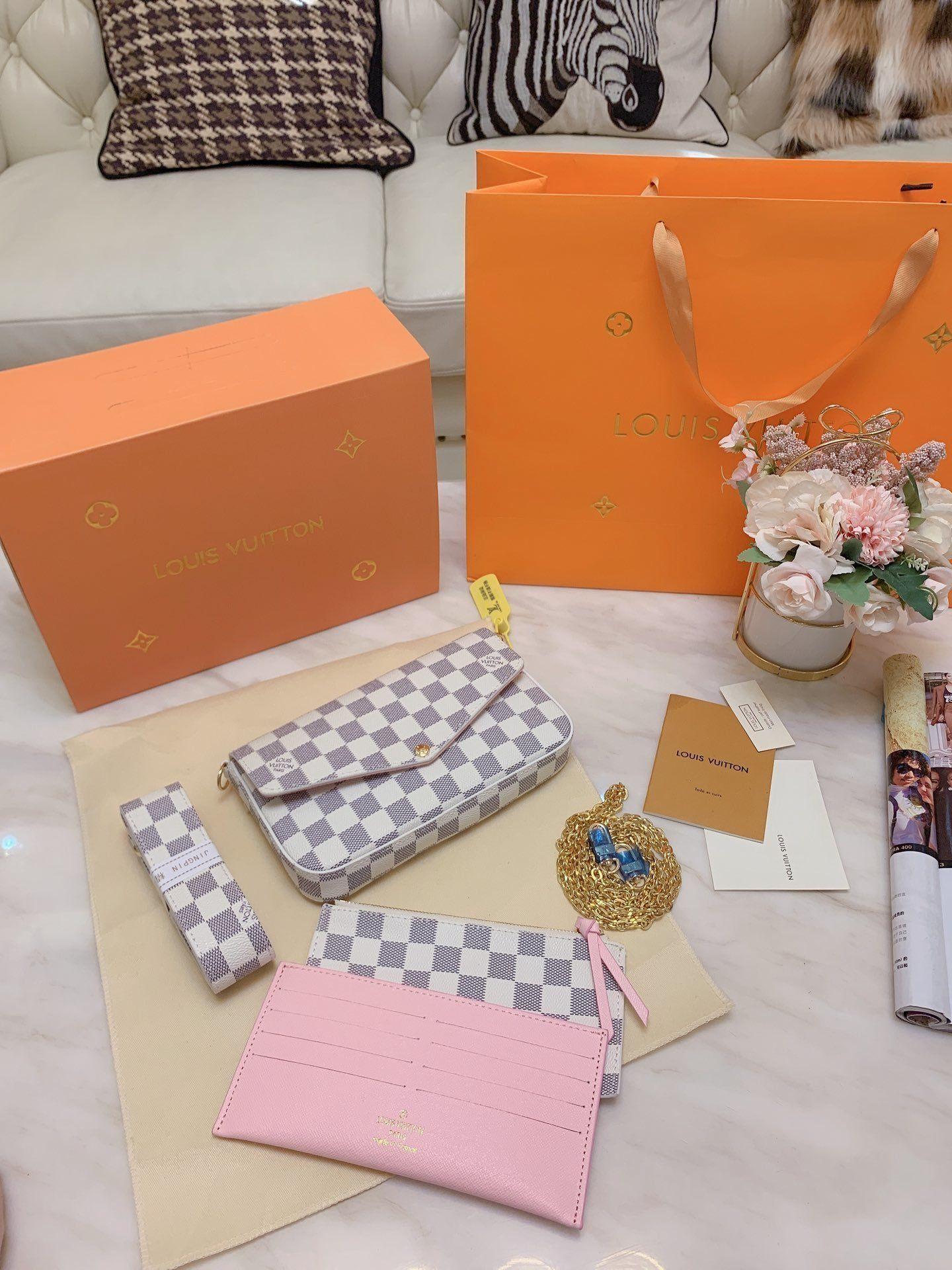 Il nuovo modo la catena della spalla Bag Small Piazza Womens pacchetto borsa a tracolla Tote originale set di tre pezzi