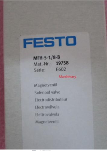 1PC New Festo Solenoid Valve MFH-5-1/8-B DC24V