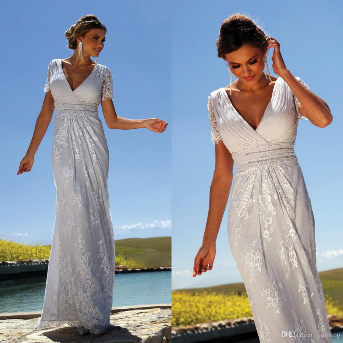Elegant A Line Lace Mother Of The Bride Dresses Plus Size Chiffon Floor Length Short Sleeve Linea Raffealli Mothers Wedding Guest Dress