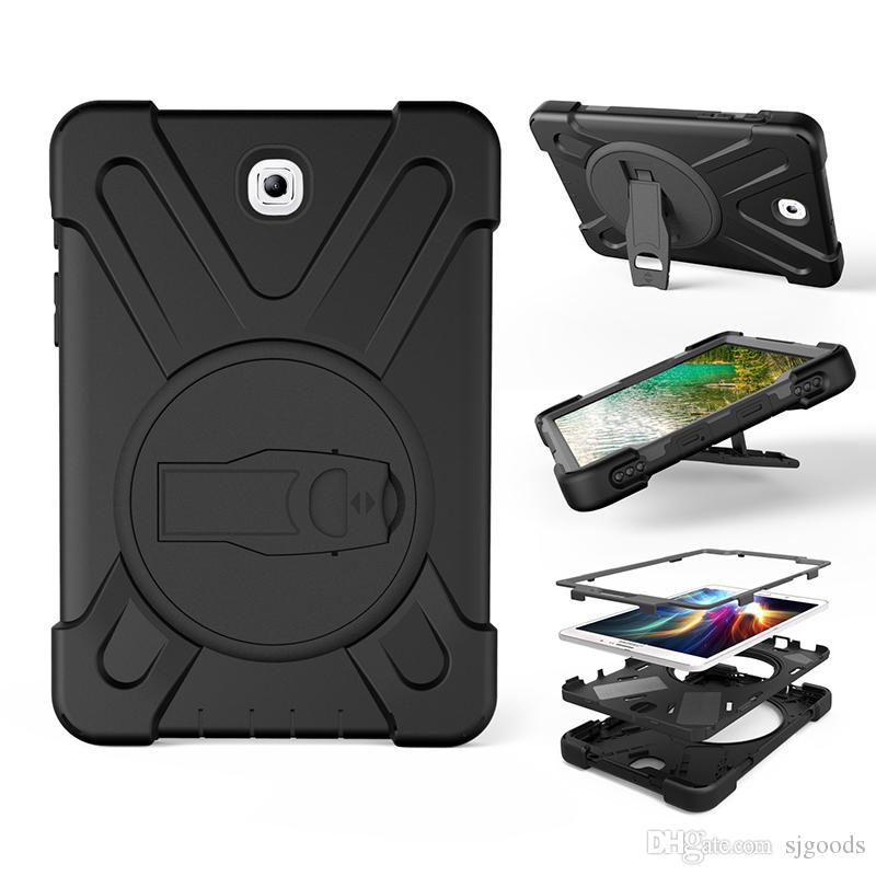 Smart Protective Case with Kickatand Anti-Dust ShockProof Hybrid Heavy Duty Armor Silicone Case for Samsung Galaxy TAB S2 T710 Tablet+Pen