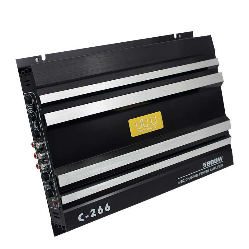 Car audio speaker amplifier V12 4 channel high power amplifier dual bass output amplifier