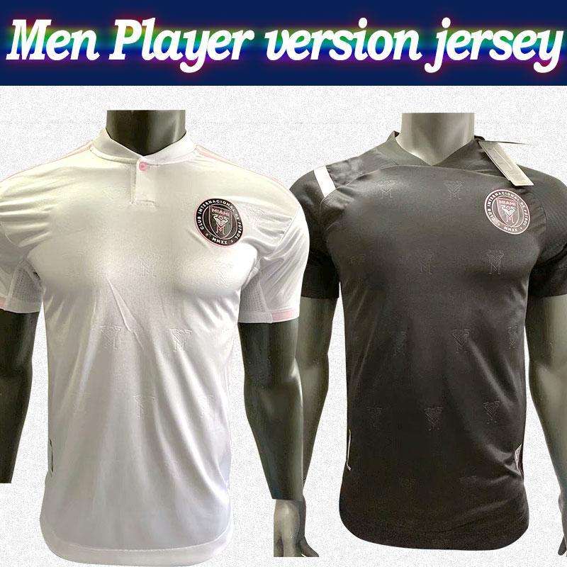 Player versão MLS 2020 Inter Miami # 23 BECKHAM camisa de futebol 20/21 camisa de futebol Homens camisa de futebol branco preto personalizado MLS Na venda
