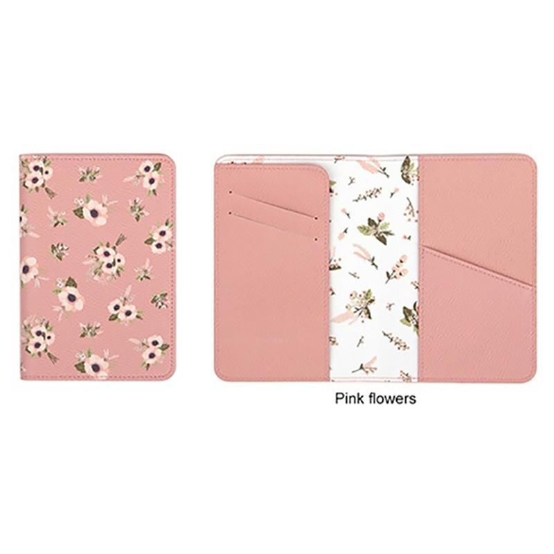 2020 Tier / Pflanzen Printing Short-Taschen Cute Female Printing Short-Beutel-Mappe Frauen Geld Blumen-Pass-Abdeckung Reisetaschen