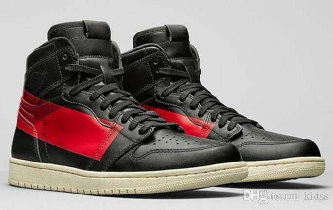 New High OG 1 Couture Defiant Nuova Banned Nero Rosso scarpe da basket Defiant Couture Sport Sneakers uomini di alta qualità con la scatola 1s