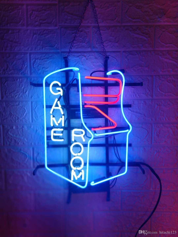 New Star segno al neon Game Factory Room17x14 pollici reale di vetro al neon insegna luminosa per Beer Bar Bar Garage Sala Torna Arcade.