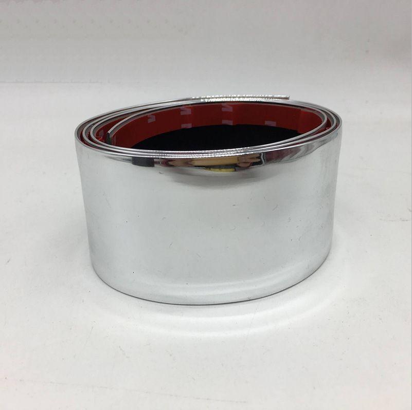 Chrome Soglia argento lucido Paraurti Adesivo in gomma Decalcomanie fai da te Sportelli per portiere Scratct Scratch-proof Sill Protector Trim Strip Sticker