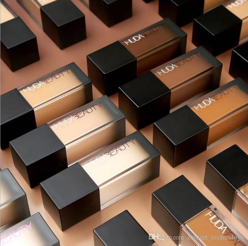 HUD @ ماكياج السائل مؤسسة 35 مل 4 ألوان المخفي primer highlighter fond de teint قاعدة maquillaje كيت