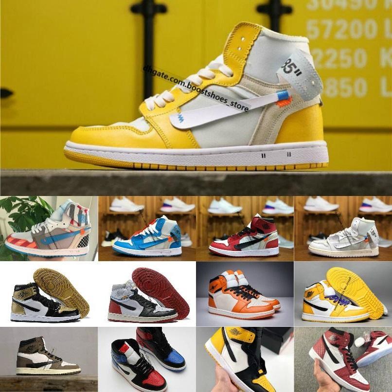 2020 Nuevo estilo caliente Scotts X1 alta OG Mediados Basketsball zapatos baratos de Royal Banned Bred fuera 1s Negro Blanco Nuevo hombres de color para la reventa 40-46