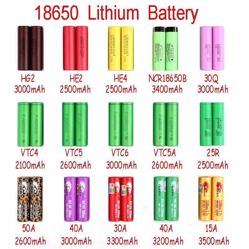 NEUE Aufladeeinheits-Energie Neue Ankunft IMR 18650 Batterie 2100mah-3500mah für Mischungsmarken-Leoparddruck MAX50A durch Fedex