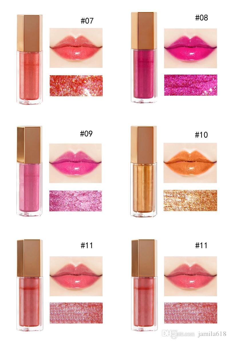 Wholesale No Label Makeup Lip gloss Lipsticks Moisturizing 5 Colors Nude Waterproof Long Lasting Shimmer Glossy Liquid Lipgloss Lipstick