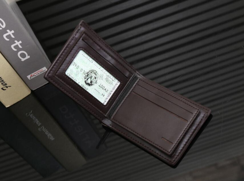 Moda de alta qualidade Brown Mens Preto Carteira Famoso Bolsa Especial Canvas Casual Multiple Wallet curto pequeno Bifold cartões e moedas Famoso