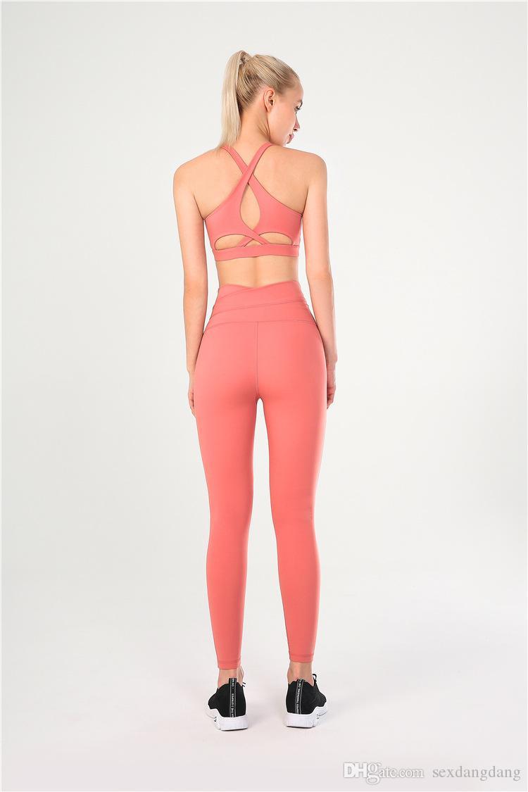 Nouveaux pantalons de yoga pour la course des femmes. Pantalons de sport et de fitness pour femmes: Pantalons de yoga taille haute, hanches, pêches sexy et respirants pour femmes