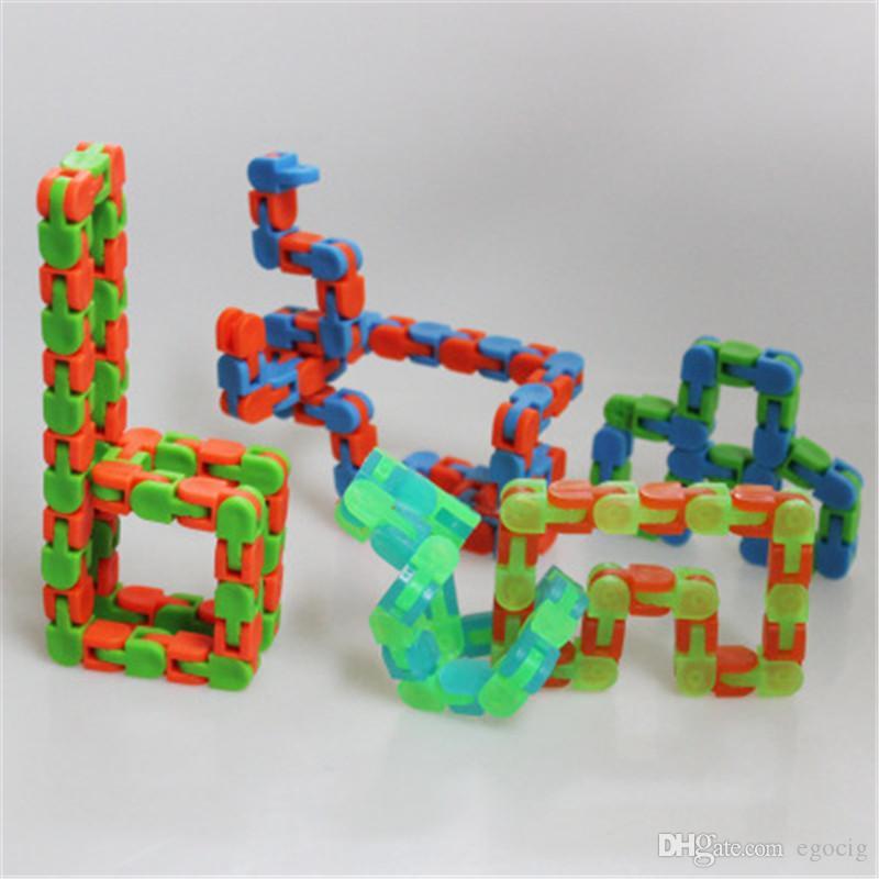 1 Wacky Tracks Snap and Click Fidget Toy Kid Autism Snake Puzzle Classic Sensory