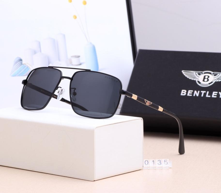 0135Beach Fashion bentley occhiali da sole d'epoca di guida in bicicletta Aviator metà per Designer mens uomini donne delle donnedi lusso 2020 nuovo di zecca