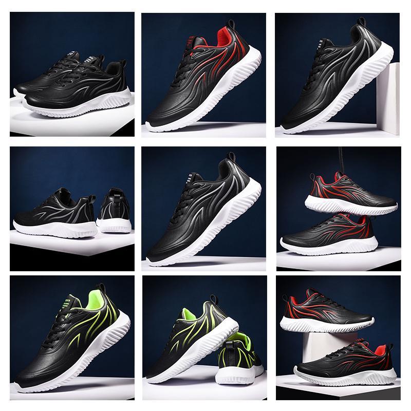 vente chaude triple hommes rouge vert noir femmes chaussures de course en cuir confortables formateurs de taille du sport design 39-45