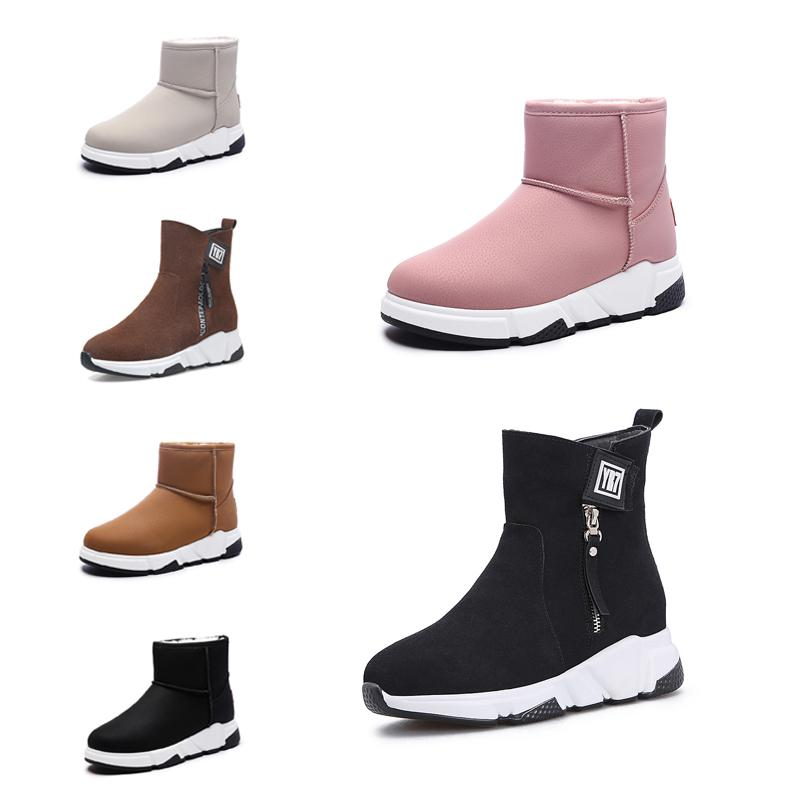 Casual Non-Brand fashion women boots Triple Black Red Beige Brown Suede winter snow ankle boots outdoor walking shoes 35-40 Style 14