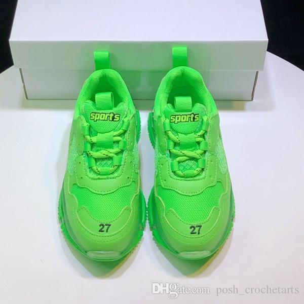 Neon chaussures de sport pour chaussures tout-petits garçons Chaussures de créateurs pour enfants unisexe haut de gamme respirable Chaussures enfant Idées cadeaux