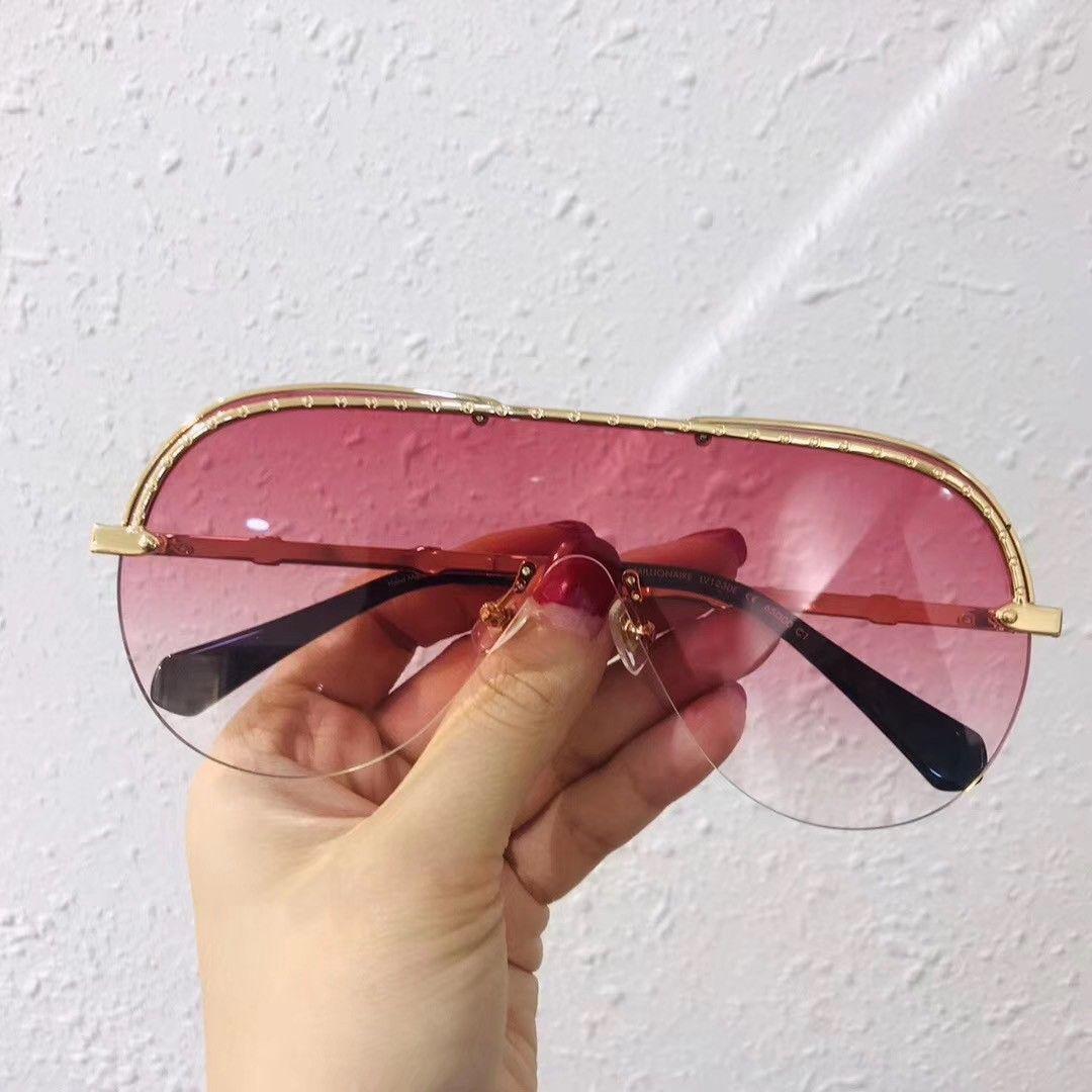1230 nuevas gafas de sol gafas de sol Gafas de sol gafas de sol gafas de sol de la caja formas de elipse mujeres de los hombres gafas de sol con la caja de color oculos