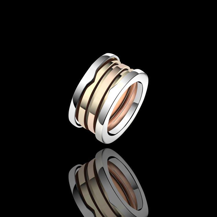vendita calda paio anello di modo dell'anello del chiodo in acciaio 316L titanio per gli uomini e le donne migliori gioielli