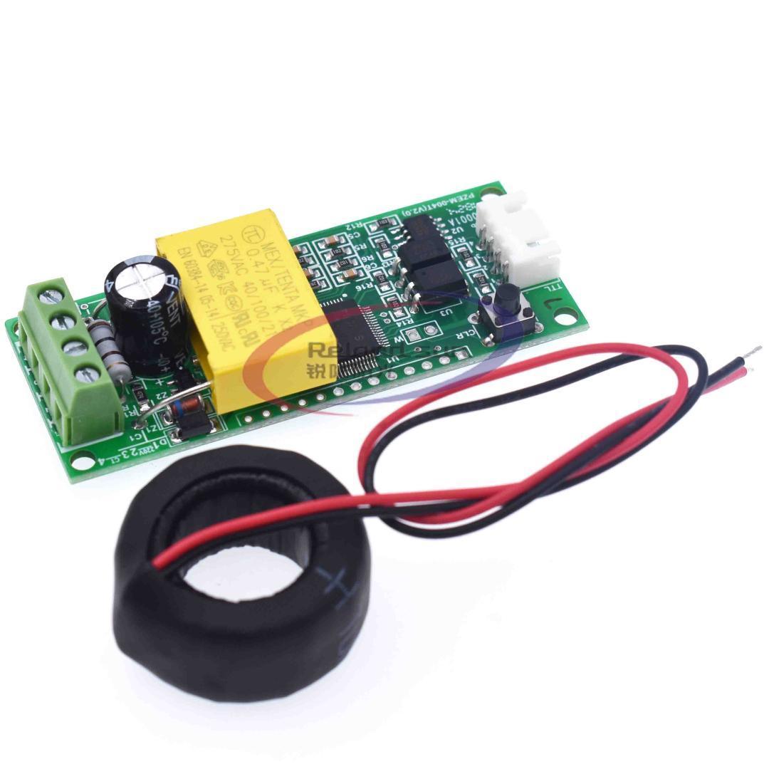Ac الرقمية متعددة الوظائف متر واط السلطة فولت أمبير ttl الحالي اختبار وحدة PZEM-004T مع لفائف 0-100A 80-260 فولت ac لاردوينو