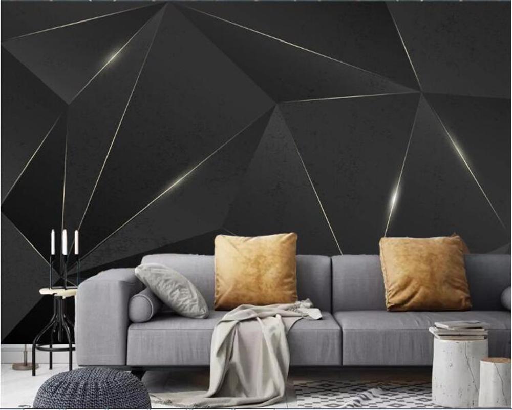 carta da parati Astratta geometrica linee d'oro moderno sfondo di lusso minimalista parete carta da parati decorazione della casa Murale 3d