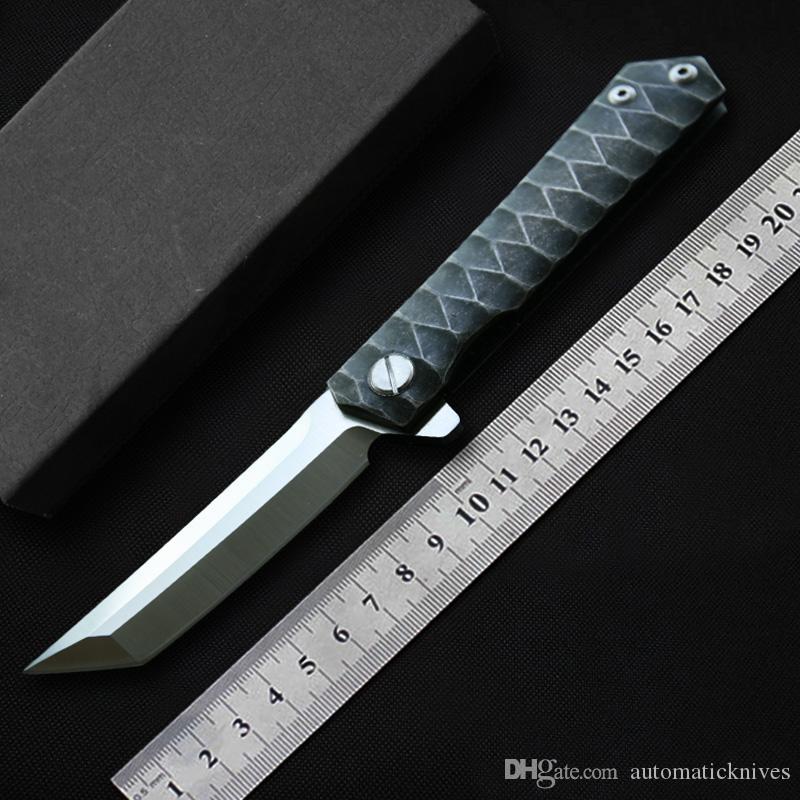 Miker Tanto coltelli coltello da tasca di sopravvivenza chiudibile con lama in D2 maniglia in acciaio strumenti di caccia lama di campeggio di EDC CNC tagliente Utility coltelli tattici