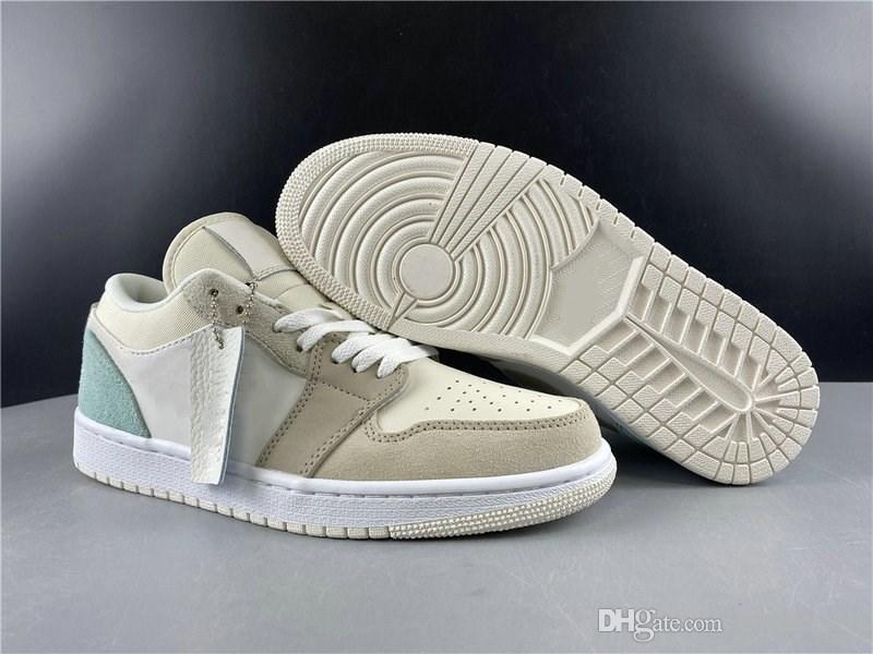 Bonne qualité 1 Low Paris Basketball Chaussures Designer Blanc Sky Gris Gris Football Je Mode Sport Zapatos Chaussures bateau ETUI