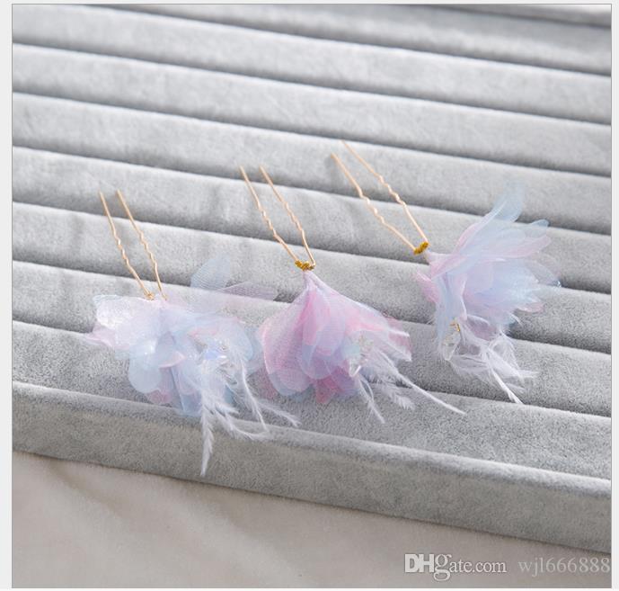 Корейская заколка для волос ручной работы заколка для волос с цветком