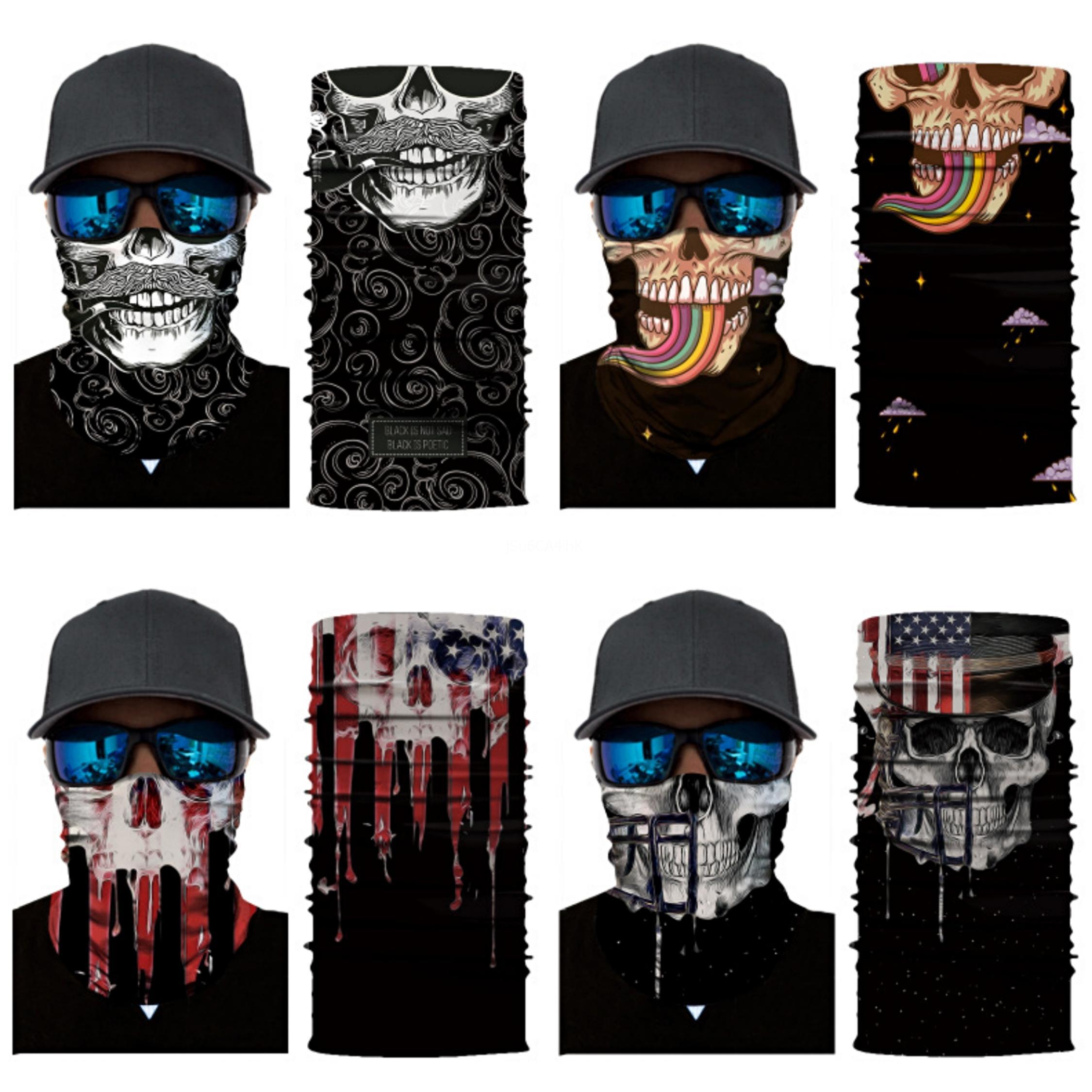 8 Máscara estilo de la cara del cráneo del cráneo sin fisuras magia bufanda Ciclismo Montar máscara máscaras partido al aire libre Skerchief Y1I33 # 204 # 826