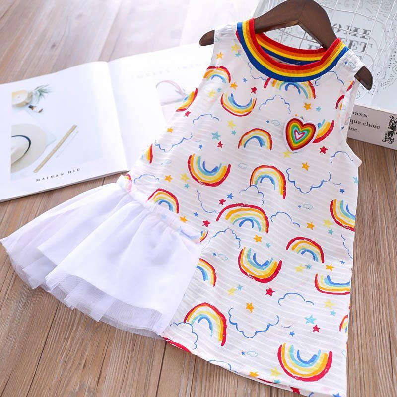 2020 New 2019 Rainbow Girls Dresses Lace Kids Designer Girls Dresses Girls Dress Cotton Kids Sundress Summer Dress Kid Dress Kids Clothes A4148 From Lovekiss 9 75 Dhgate Com