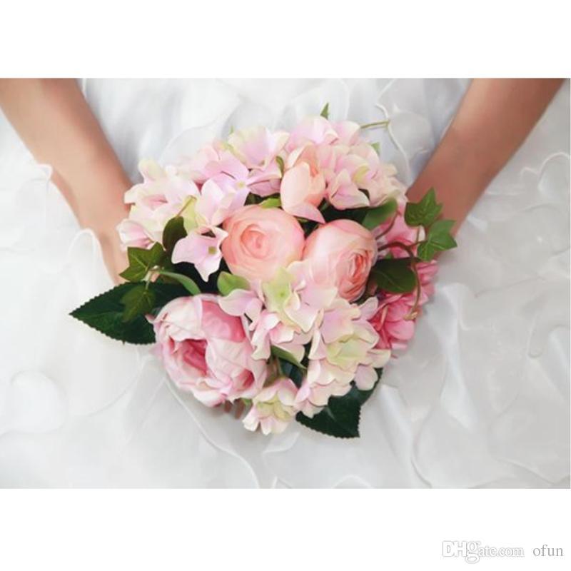 vente moins chère code promo offrir des rabais Acheter 2019 Pas Cher Bouquets De Mariée Rose Fleur Bouquet De Mariage  Fleurs À La Main Artificielle Pivoine Broche Mariée Tenant Des Fleurs De  $16.43 ...