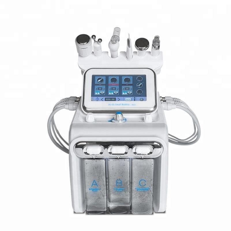 6 em 1 Oxygen H2O2 Água pele Jet Peel Hydra Beauty limpeza Hidro dermoabrasão Hydra facial máquina de água do Aqua Peeling