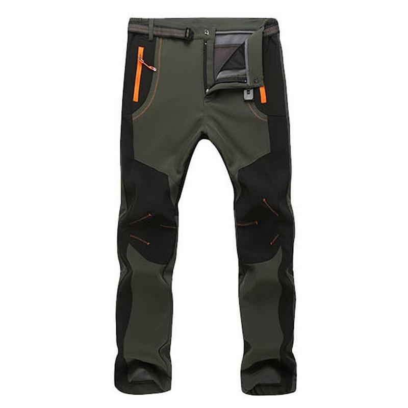 Scaldano i pantaloni invernali uomini Uomini fodera in pile Cargo Pants Mens impermeabile pantaloni maschili stirata casuale del lavoro pantaloni 2020