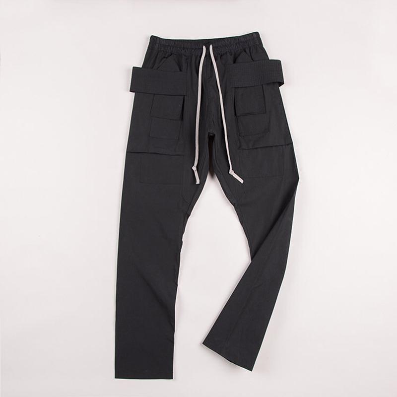 Top qualité Cargo Pantalons RO Stlye Hommes Femmes poches Joggings Hip Hop cordonnet hommes Joggers Pantalons