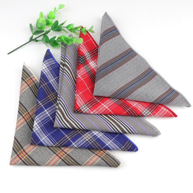 Clássico da manta Lenço 100% algodão lenço 22cm WomenMen Casual shirt do partido diário vestido quadrado do bolso Gift Bow Tie Acessório