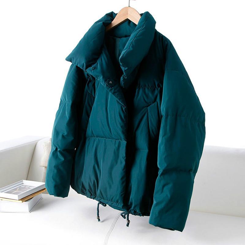 Autumn Winter Jacket Women Coat 2018 Fashion Female Stand Winter Jacket Women Parka Warm Casual Plus Size Overcoat shein