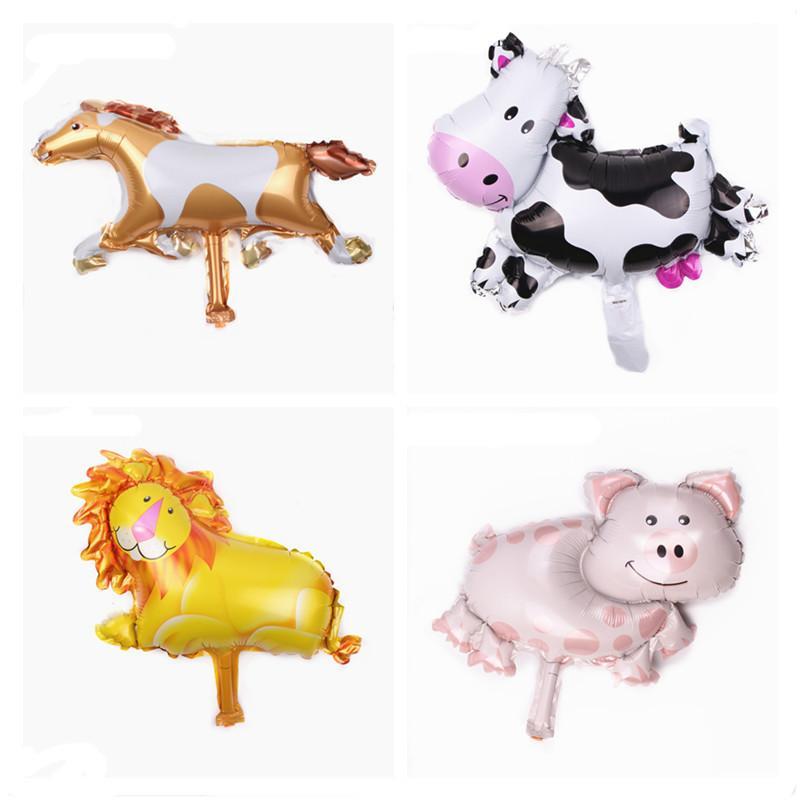 Cow alta qualidade porco dos desenhos animados Mini bebé do balão Duche Ballon Foil Air Balloons Party Animal Decoração Globos Balões De Festa